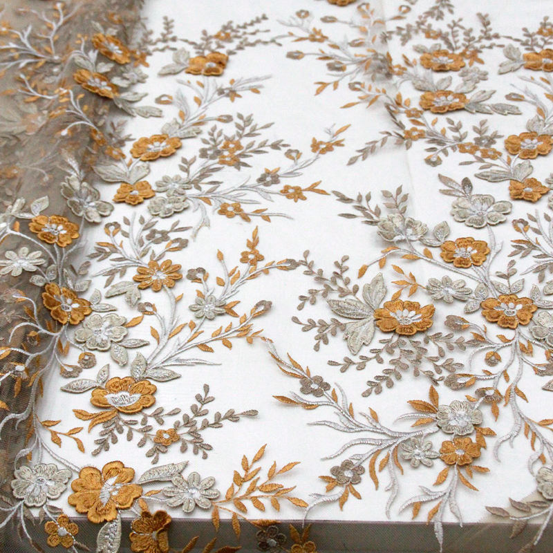 Stylish elegance High quality 3D flowers African French Lace cord embroidery tulle lace fabric for big occasions 5 yards RG536Stylish elegance High quality 3D flowers African French Lace cord embroidery tulle lace fabric for big occasions 5 yards RG536