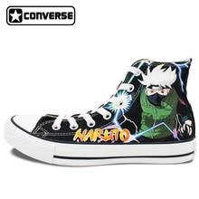 Kakashi Syaringan Naruto Converse Chuck Taylor Men Women Shoes Hand Painted Shoes Man Woman Sneakers Cosplay Christmas Gifts