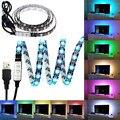 USB CONDUZIU a Luz de Tira 5050 30 LEDs 5 V Impermeável RGB CONDUZIU a Luz faixa de 1 m com Controlador Mini para Home Theater e TV Backlighting