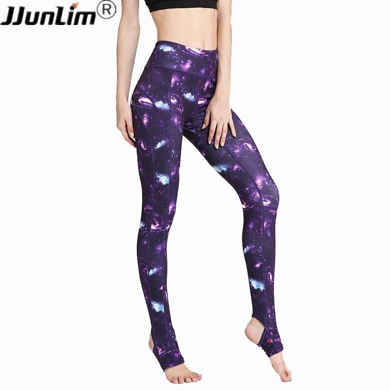 Femmes Taille Haute Yoga Pantalon Imprimé Fitness Legging Élastique Sport Pantalons Gym Workout Courir Leggings Pantalon de Danse De Sport Féminin
