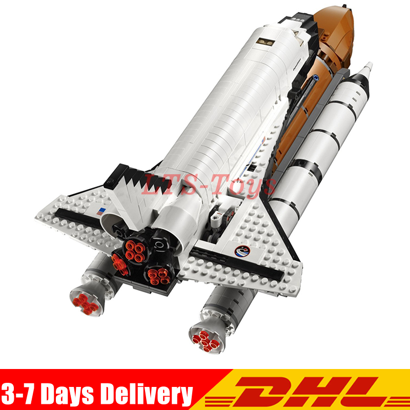 2018 LEPIN 16014 1230Pcs Space Shuttle Expedition Model Building Kits Blocks Bricks Toys for Children Compatible Legoing 10231 loz architecture space shuttle mini diamond nano building blocks toys loz space shuttle diy bricks action figure children toys