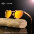 New Round Wooden Sunglasses Polarized Women Brand Bamboo Sunglasses Mirror Original Wood Sun Glasses Oculos de sol masculino