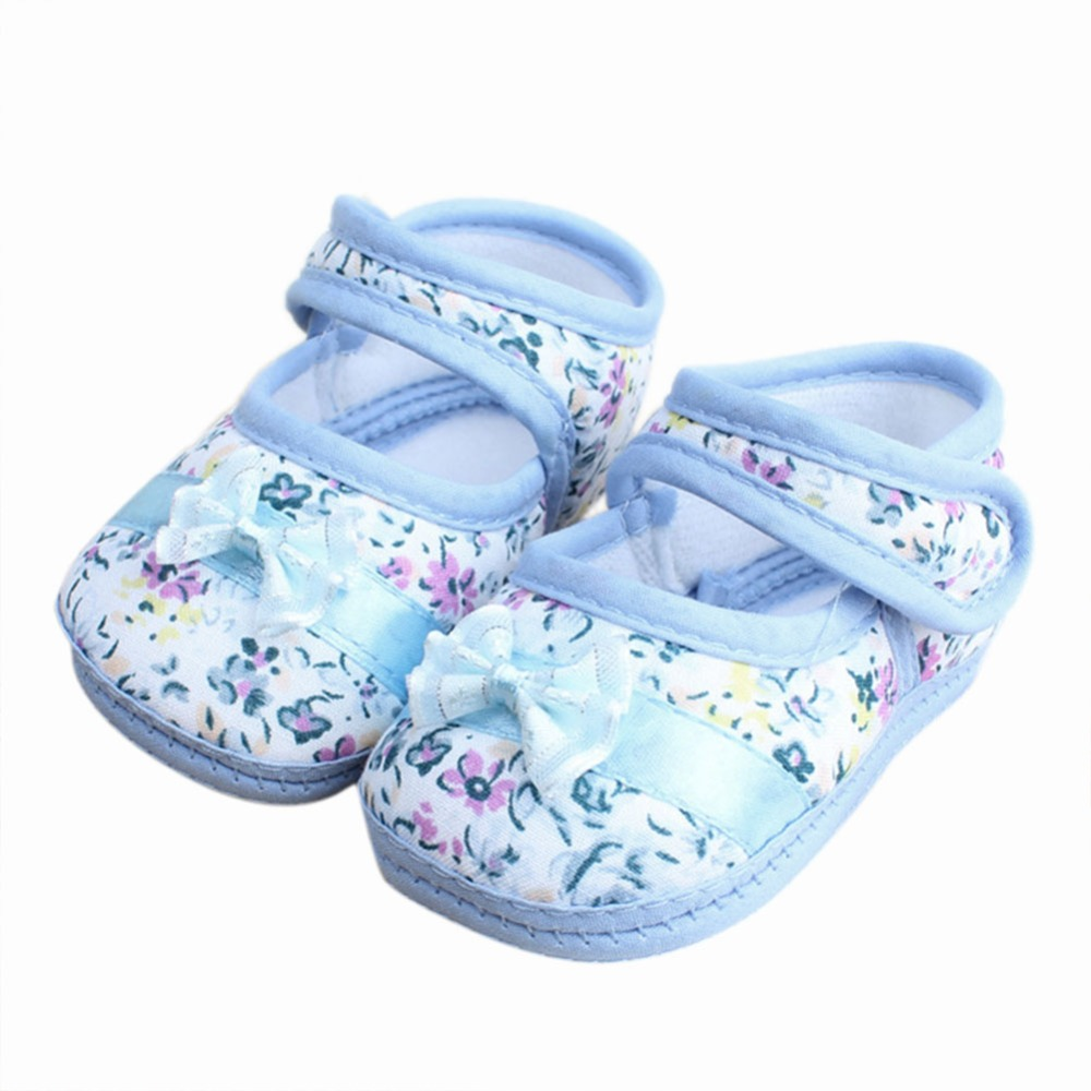 2016 New Arrival Baby Shoes Flowers Bow Baby Toddler Shoes Spring Autumn Footwear First Walker Boots