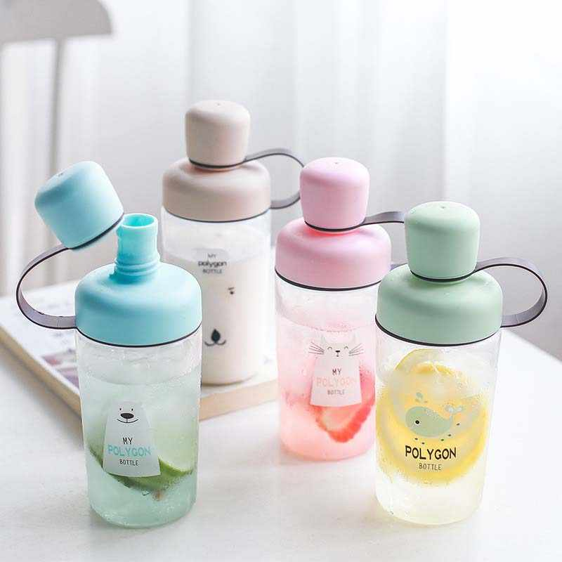 400ML Baby Cup with Lid Portable Outdoor Sports Travel School Use Cute Water Drinking bottle for kids drink water Birthday gift