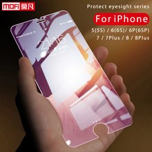 Tempered Glass for Apple iPhone 5 5S 6 6s plus 7 8  Mofi Anti Blue Thin 2.5D 9H Full Screen Protector
