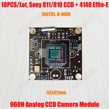 "10 adet/grup 32x32mm 700TVL 1/3 ""873 872 811 810 CCD Effio e 4140 DSP Analog güvenlik kamerası Modülü Kurulu w/OSD Kontrol Video Kablosu"