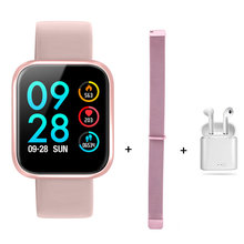 P70 + Udara Pods + Tali Smart Watch Gelang Tekanan Darah Heart Rate Monitor Pedometer Kebugaran Tracker Smart Watch untuk Android IOS(China)