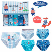 5Pcs Lot Cotton Teenage Boys Underwear Kids Panties For Boy Briefs cartoon Baby Calcinha Infantil Children Toddler Underpants