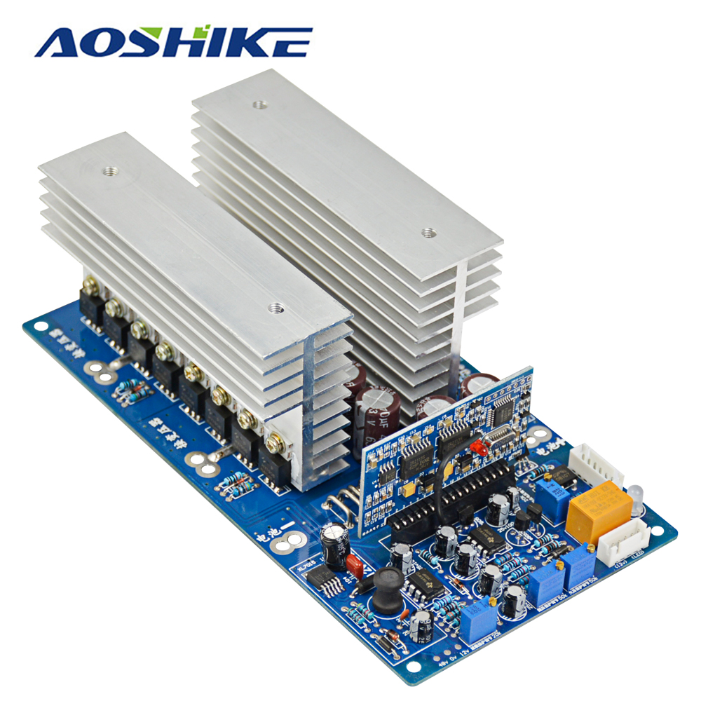 Aoshike 3000W Pure Sine Wave Power Frequency Inverter Board DC 24V 48V 60V to AC 220V 1500W 3500W with Perfect Protection цена и фото