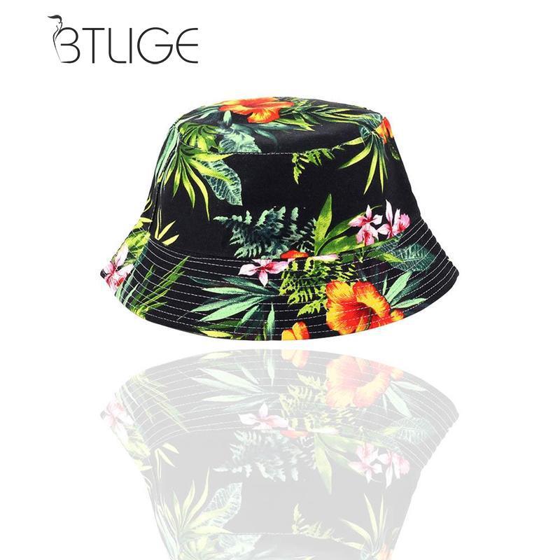 Btlige Boho Flower Floral Beach Hat Men Womens Sun Cap -8009