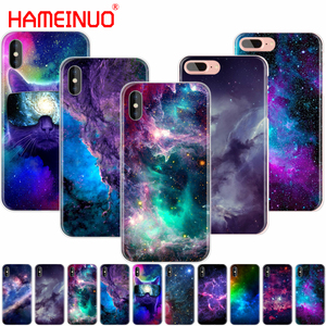 HAMEINUO colorful space for galaxy universe cell phone Cover case for iphone 4 4s 5 5s SE 5c 6 6s 7 8 X plus(China)