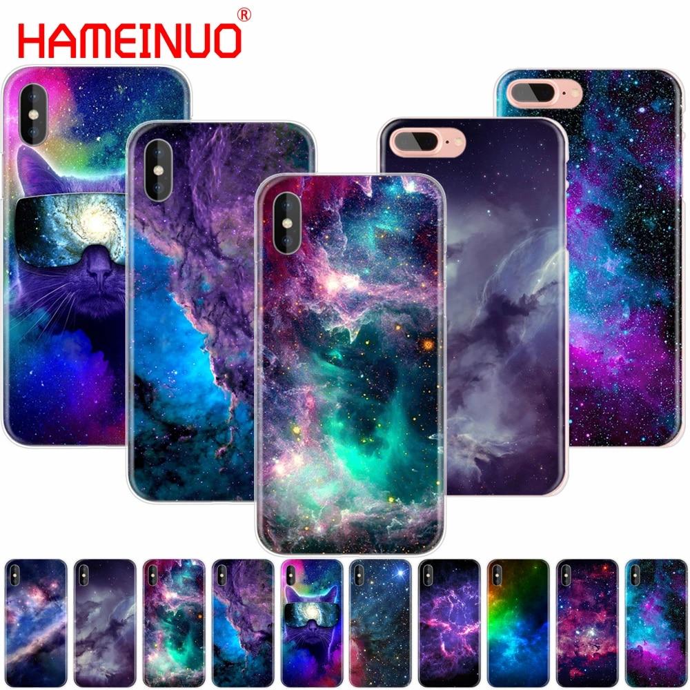 HAMEINUO spazio colorato per galaxy universe custodia per cellulare per iphone 4 4s 5 5s SE 5c 6 6s 7 8 X plus