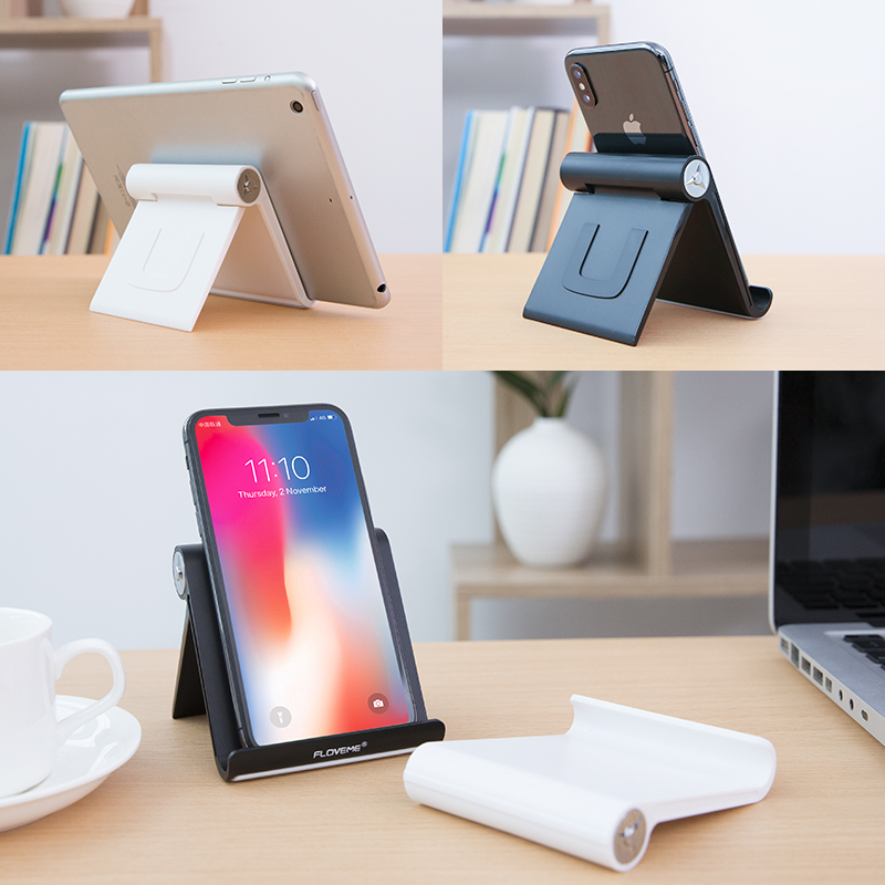 official photos 25122 f78fa Foldable Phone Holder Stand for iPhone X XS MAX Tablet Stand Desk Holder  Stand For Mobile Phone for Samsung Xiaomi OPPO
