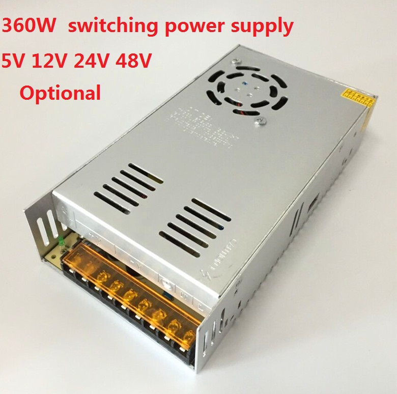 360W Switching Power Supply for LED Strip AC100-240V Input to DC 5V/12V/24V/48V output s 360 5 dc 5v 360w switching power source supply 5v led driver good quality power supply dc 5v