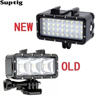 Suptig Waterproof LED light Underwater Light Diving+Battery For GoPro Hero 9 8 7 54 Session Xiaomi Yi Mijia 4K SJCAM SJ8 EKEN H9 - sale item Camera & Photo