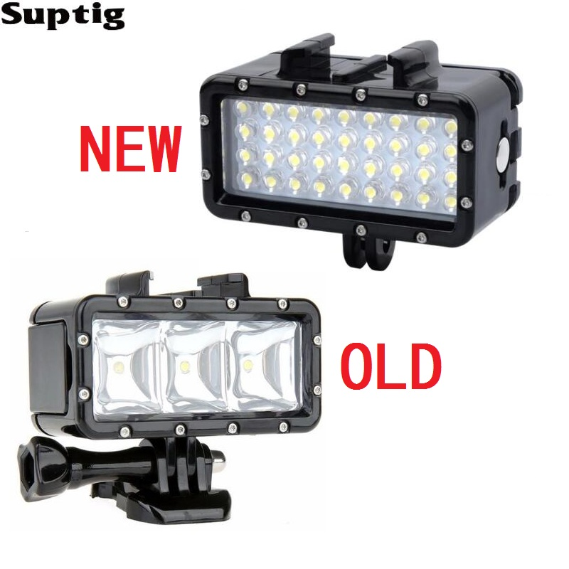 Suptig Waterproof LED Light Underwater Light Diving+Battery For GoPro Hero8 7 6 5 3 Session Xiaomi Yi Mijia 4K Sjcam SJ8 EKEN H9