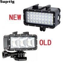 Suptig su geçirmez LED ışık sualtı ışığı dalış + pil için GoPro Hero8 7 6 5 3 oturumu Xiaomi Yi Mijia 4K sjcam SJ8 EKEN H9