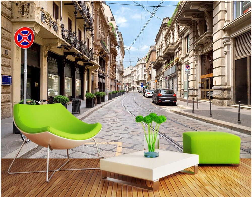 3d wallpaper custom mural photo non-woven European town street cars room painting 3d wall murals wall paper for walls 3 d