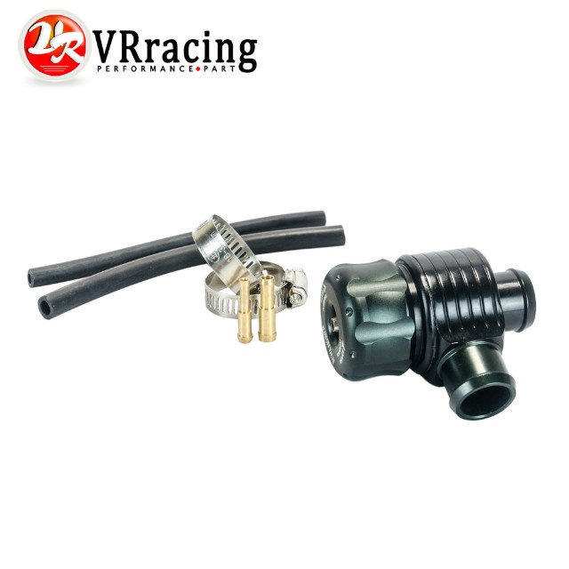 VR RACING - Black Auto Racing Turbo aluminum 25mm Blow Off Valve Turbo Wastegate bov with Adpater outside VR5742BK