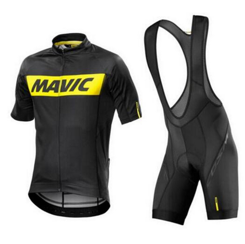MAVIC Pro Summer Cycling Jersey Sets 9d Gel Padded Bike Shorts Breathable Pro Cycling Clothing Jersey Maillot Ciclismo Green