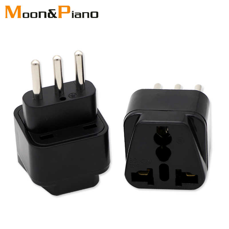 3-pin IT Conversion plug Universal UK/US/EU/AU to Italy Milan Chile Vatican Italian Travel AC Power Adapter Plug Converter