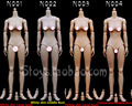 "1/6  Scale Female figure body Yellow & White skin doll body 12"" Action figure doll accessories fit HT or OB head"