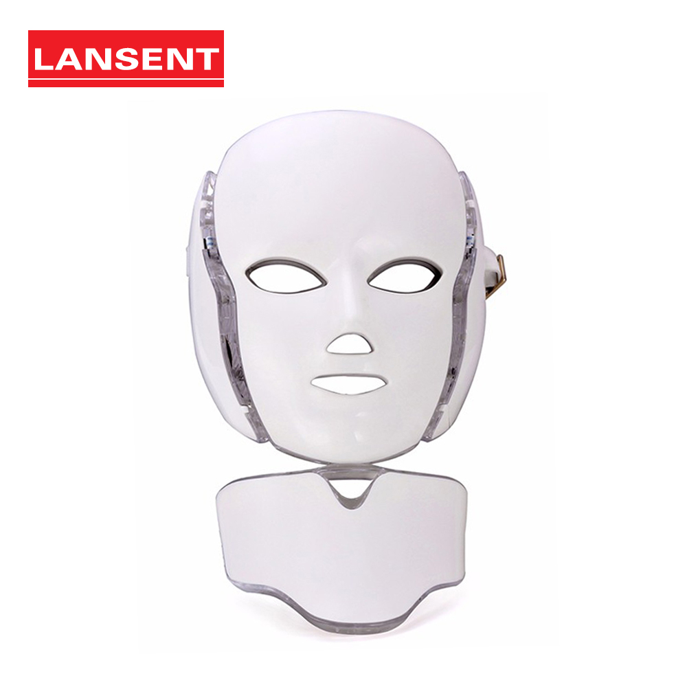 Hot! 7 colors electric photon LED Facial collar mask with skin rejuvenation Anti acne wrinkle beauty salon treatment home useHot! 7 colors electric photon LED Facial collar mask with skin rejuvenation Anti acne wrinkle beauty salon treatment home use