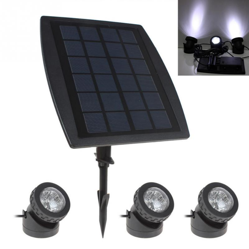 ФОТО Solar Panel Powered 3 Holder 18 LED Bulb White Waterproof Outdoor Garden Light Landscape Lamp Yard Lawn Path Light Spotlight