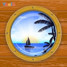 Yeele Crystal Ball Sea View Sailboat Scenery Wooden Board Planks Photography Backdrops Photographic Backgrounds For Photo Studio