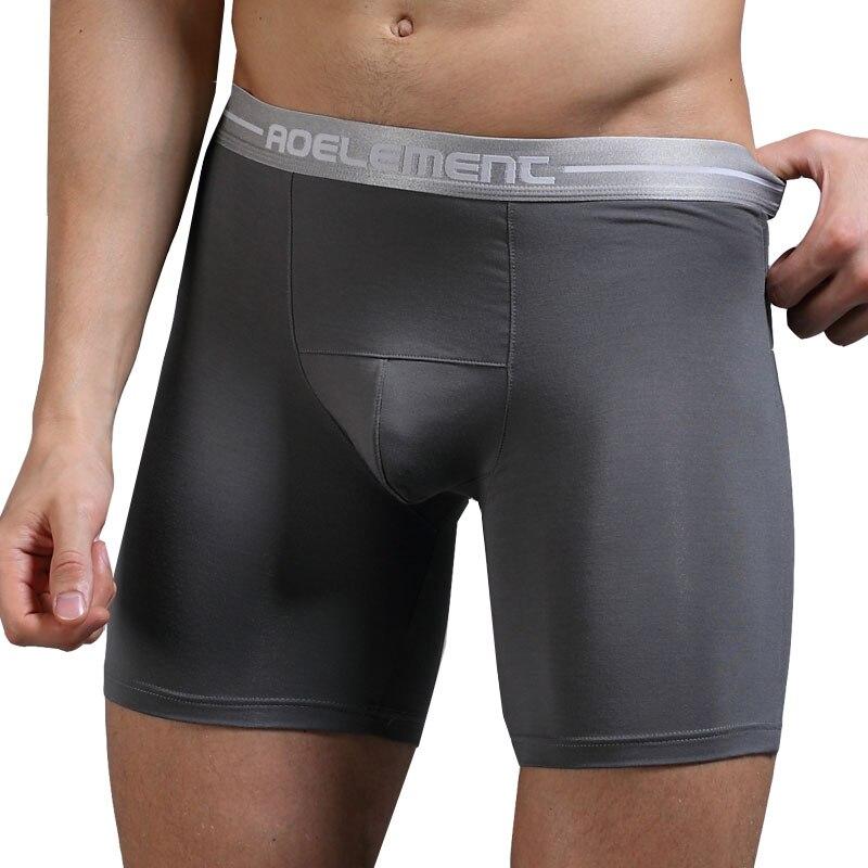 Comfortable Long Leg Short Leg Men's Male Underpants Man Underwear  Plain  Boxer Shorts Pouch Cuecas