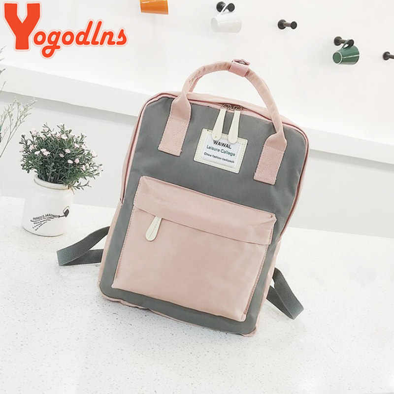 Yogodlns женский рюкзак для колледжа, школьная сумка для подростков, Холщовый женский рюкзак 15 дюймов, рюкзак для ноутбука