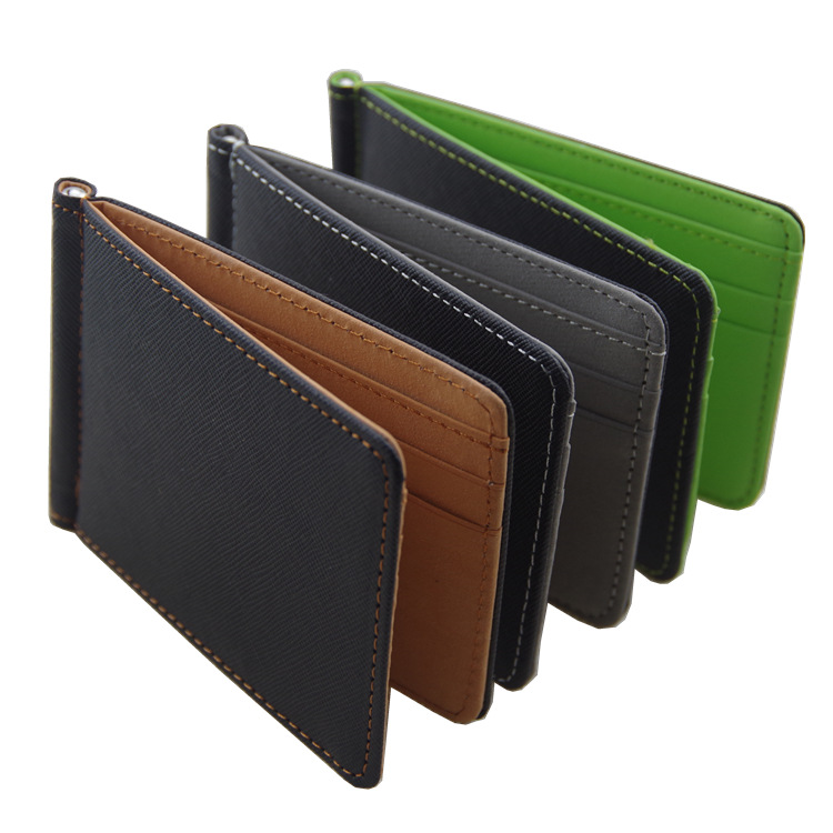 2018 New Men Wallet Money Clip Wallet Purses PU Leather Solid Male Purses With Designer Cash Holder Card Cases For Men Purses