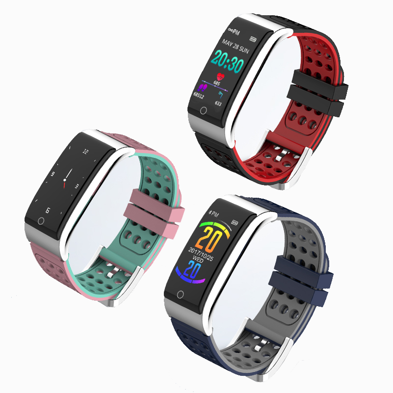 Activity Tracker Braccialetto Intelligente Inseguitore di Fitness Intelligente Wristband Banda Heart Rate Sonno Monitor ECG/PPG Misuratore di Pressione Sanguigna Intelligente Orologio