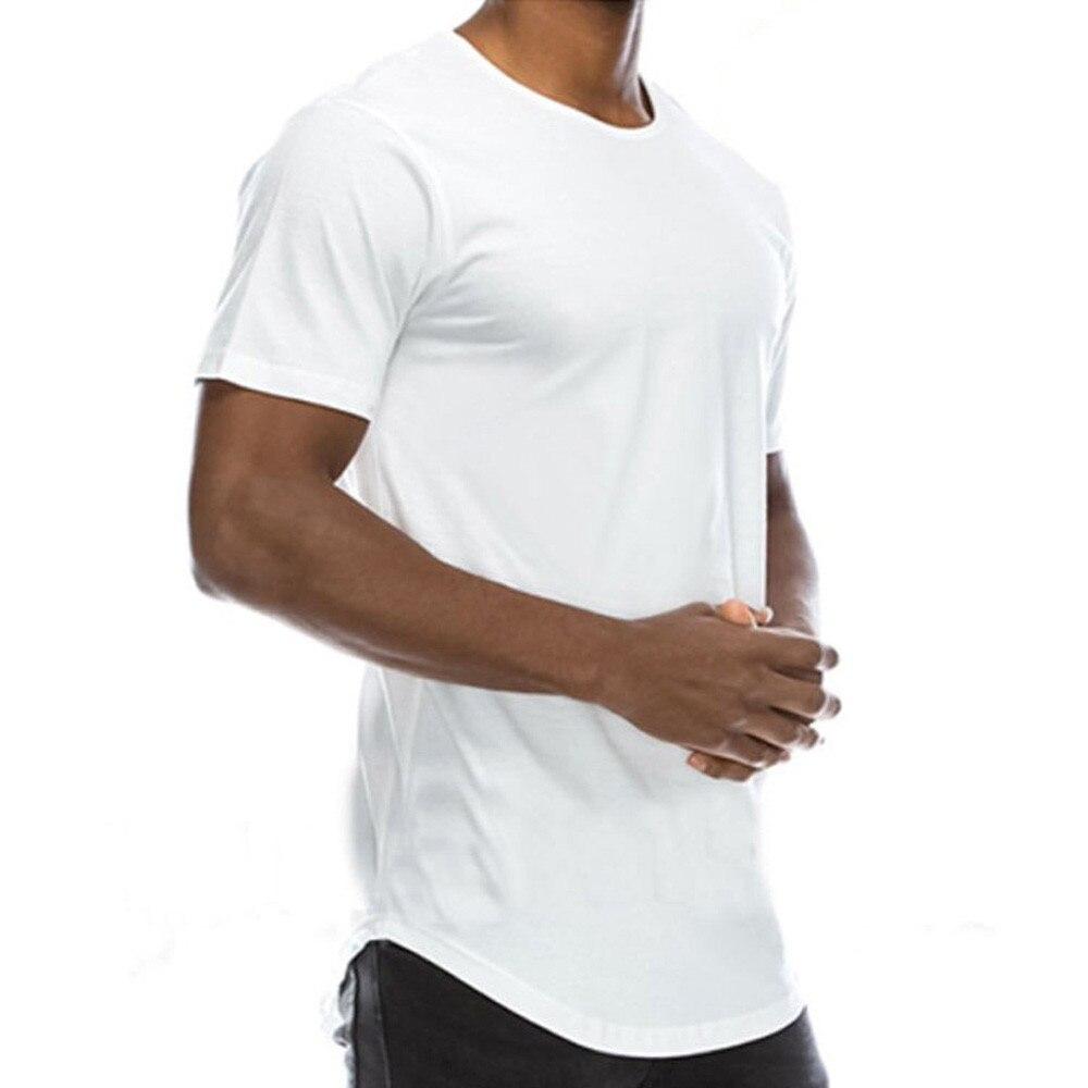 harajuku t shirt men Short sleeve Fitness tshirt men shirt 2019 Summer t-shirt Solid Streetwear men clothing camisa hombre