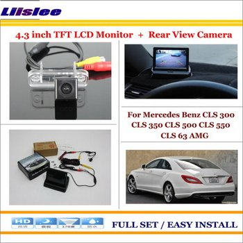 "Liislee For Mercedes Benz CLS 300 CLS 350 CLS 500 CLS 550 Car Reverse Rear Camera + 4.3"" LCD Monitor = 2 in 1 Parking System"