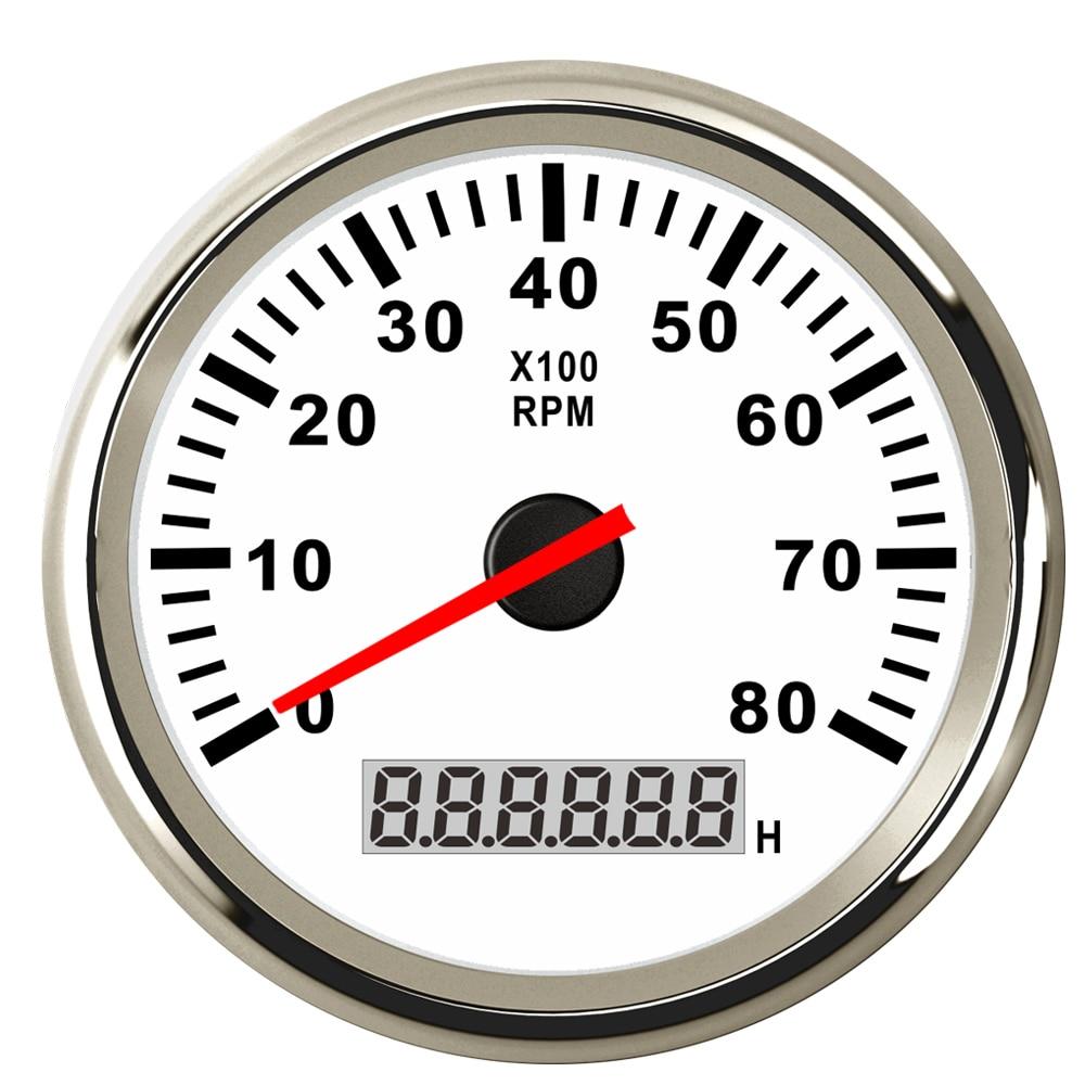 Image 3 - Digital Engine Tach Hourmeter Tachometer Gauge 6000 /8000 /9990 RPM Meter Display for Motorcycle Motor Marine Car-in Tachometers from Automobiles & Motorcycles