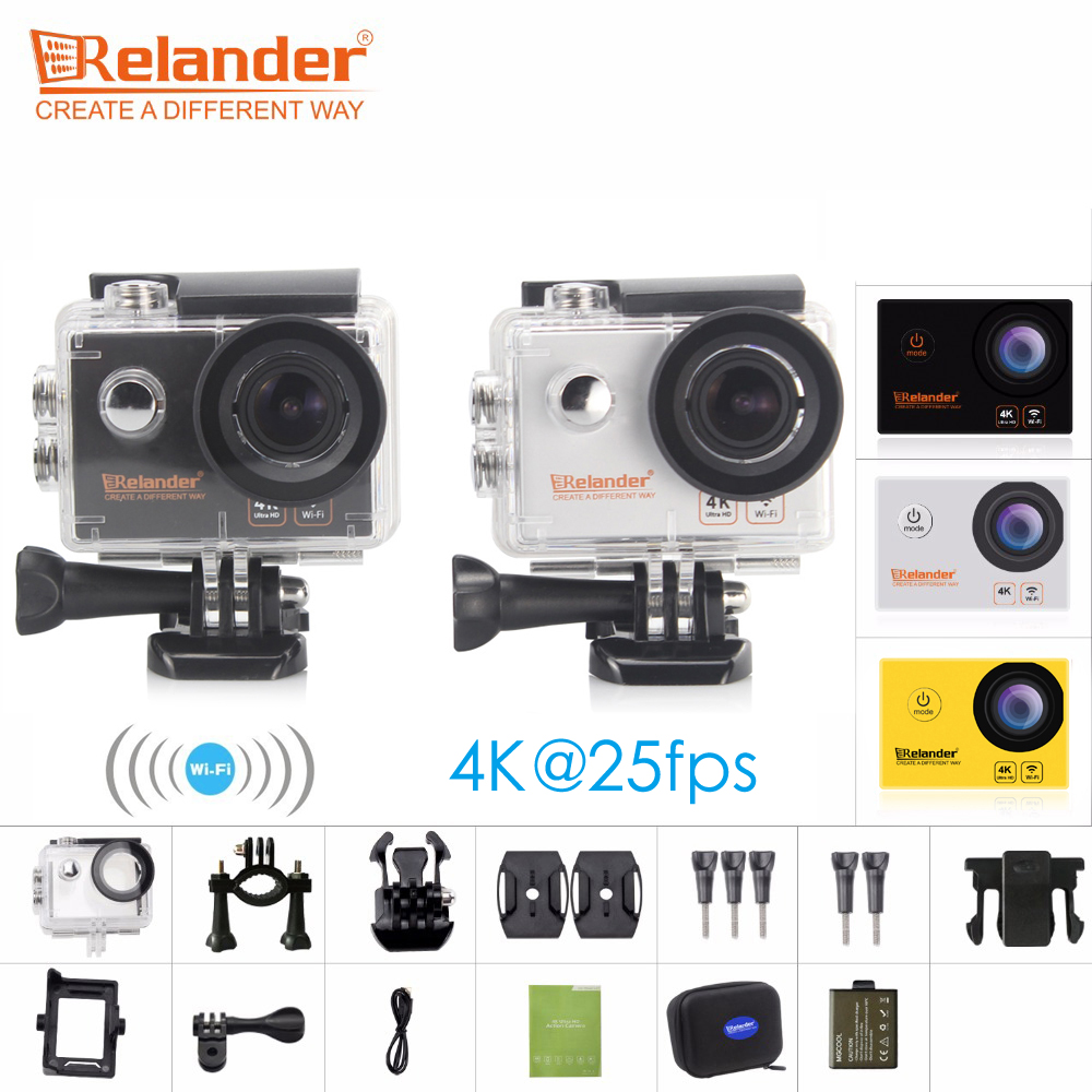 Original Crelander R8 4K 170D HD Action Camera 2 Waterproof Go Extreme Pro Sport Cam DVR VS EKEN H9 Sports Action Video Cameras
