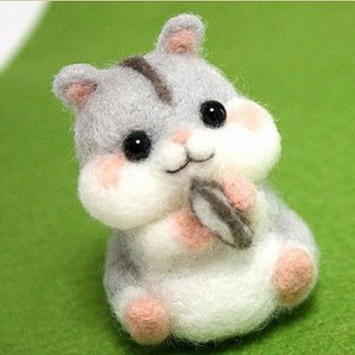 Image 5 - Handmade Pets Toy Doll Wool Felt Needle Poked Kitting DIY Cute Animal Dog Panda Rabbit Wool Felting Package Non Finished-in DIY Package from Home & Garden
