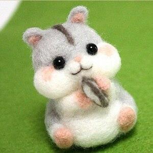Image 5 - Wool Felt Needle Poked Kitting DIY Cute Animal Dog Panda Rabbit Wool Felting Package Non Finished Handmade Pets Toy Doll Decor