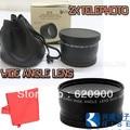 DHL 10X 100% Professional  fisheye lens 0.45x 58mm Wide &2 X TELEPHOTO for AF-S DX for Nikkor 18-55mm,AF-S 55-200mm forNikon