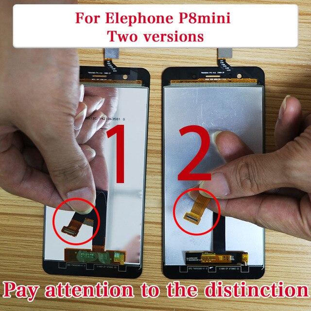 ใหม่สำหรับ Elephone P8 MINI Touch หน้าจอ LCD Screen จอแสดงผล LCD Digitizer เปลี่ยนชิ้นส่วน 5.0 นิ้ว