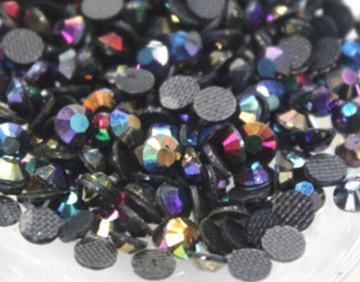 5mm, 800pcs/Bag rainbow AB colour DMC Hot Fix FlatBack Rhinestones,machine cut iron-on garment crystal stone gliters