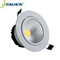 OSIDEN 3 W 5 W 7 W AC110V 220 V Recesso LEVOU Downlight COB LED Bulbo Conduzido Lâmpada Spot para Casa de Banho Iluminação Interior led teto|spot led|spot led 220vspot 220v -