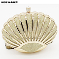 Kiss Karen Noble Diamonds & Glitter Powder Shell Women's Clutches Evening Bags Party Clutch Bag Club Elegant Lady Minaudiere