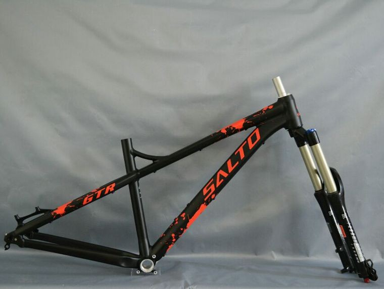 SALTO Down Hill Cross Country Hard Tail Frame Thru Axle 142*12mm Aluminum Alloy Bicycle Frame 27.5 ER Bike Parts
