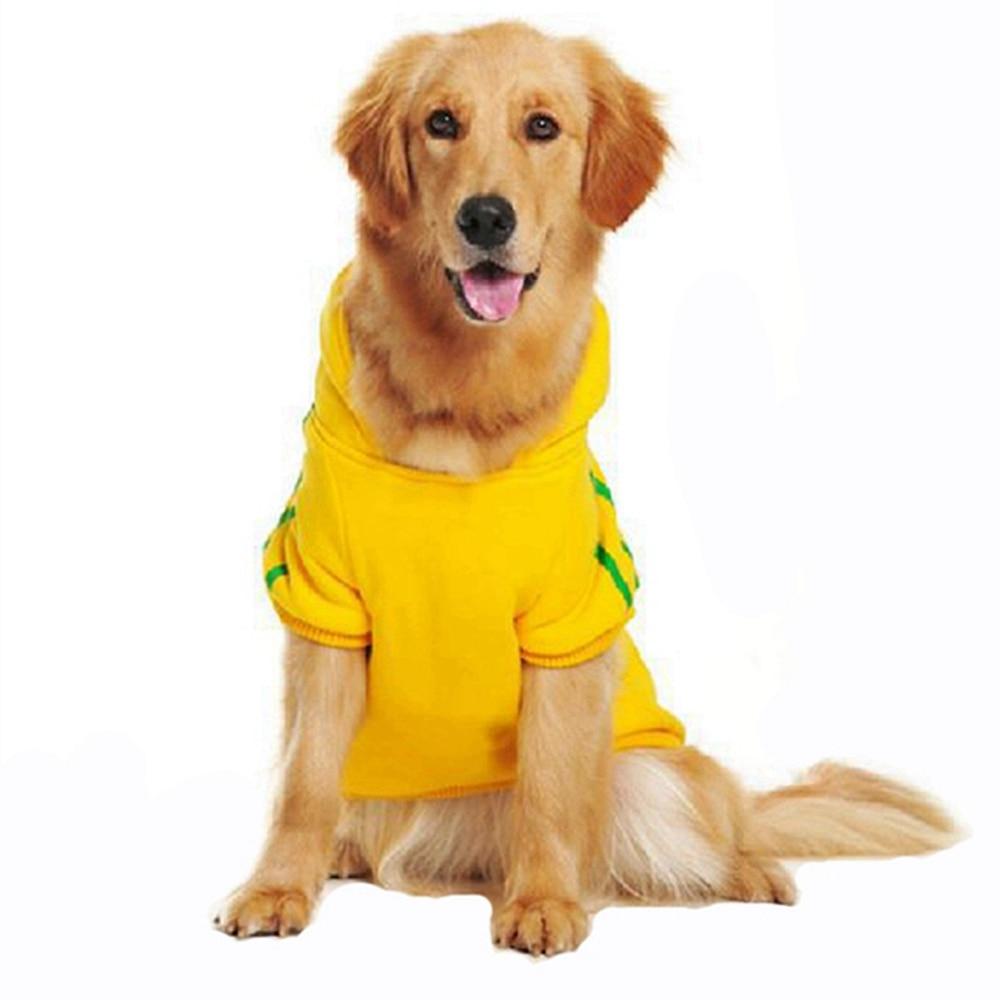 बड़े कुत्ते शरद ऋतु कपड़े पालतू स्वेटर सर्दियों कुत्ते हूडि गोल्डन कुत्ता कुत्ता कपड़े के लिए ऊन कुत्ता हूडि पालतू कपड़े