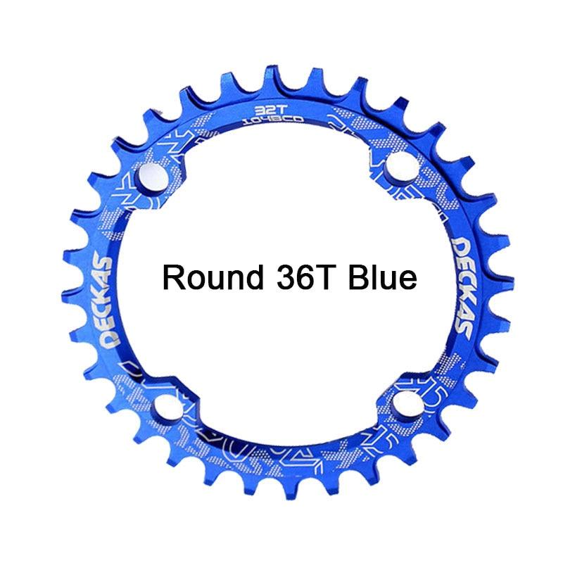 Bike Crank 104BCD Narrow Wide Crankset Single Plate 32T34T36T38T MTB Chainring Bicycle Chainwheel Bike Circle Round Shape (15)