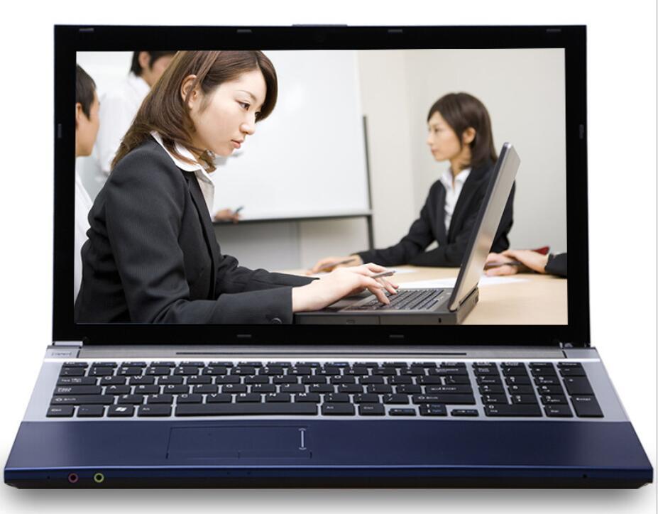 8G RAM + 120 г SSD + HDD 320 г Intel Core i7 Процессор ноутбуки вычислить 15,6 1920x 1080P HD ноутбук с Windows 10 с DVD-RW для Office для дома