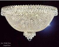 Phube освещение большой фойе Entryway Хрустальный потолочный светильник французская Империя Золотой Кристалл смонтированный свет освещение Бес