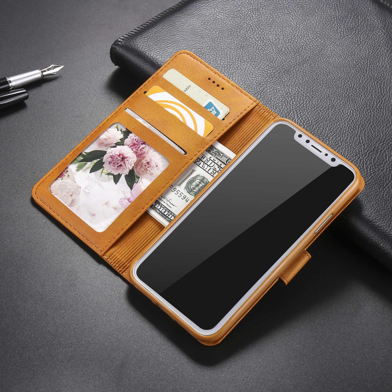 อัลบั้มหนังสำหรับ Iphone XR กรณี IPhone X XS สูงสุด 8 7 6 6S Plus 5 5S SE กระเป๋าสตางค์บัตรเครดิตกรณีธุรกิจ